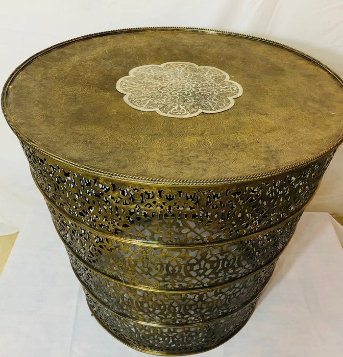 Antiqued Brass Hand-crafted Center Table
