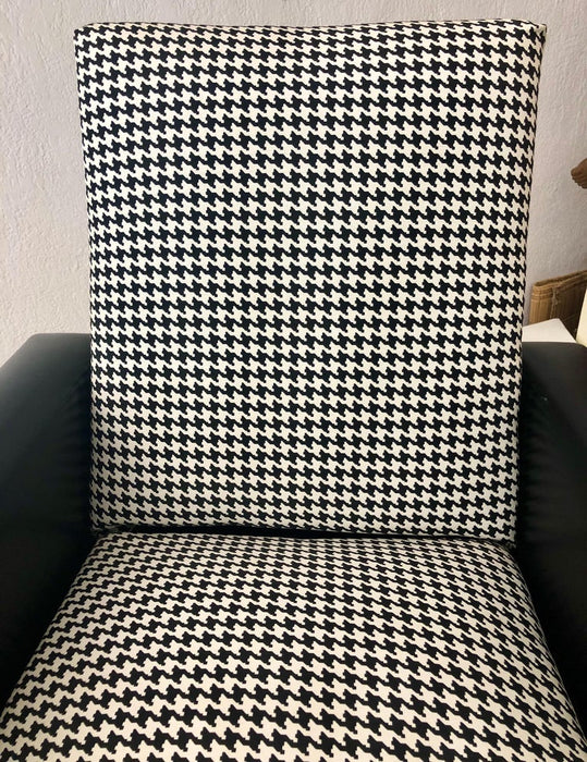 Mid-Century Modern Armchair or Lounge Chair Black and White, 1960s
