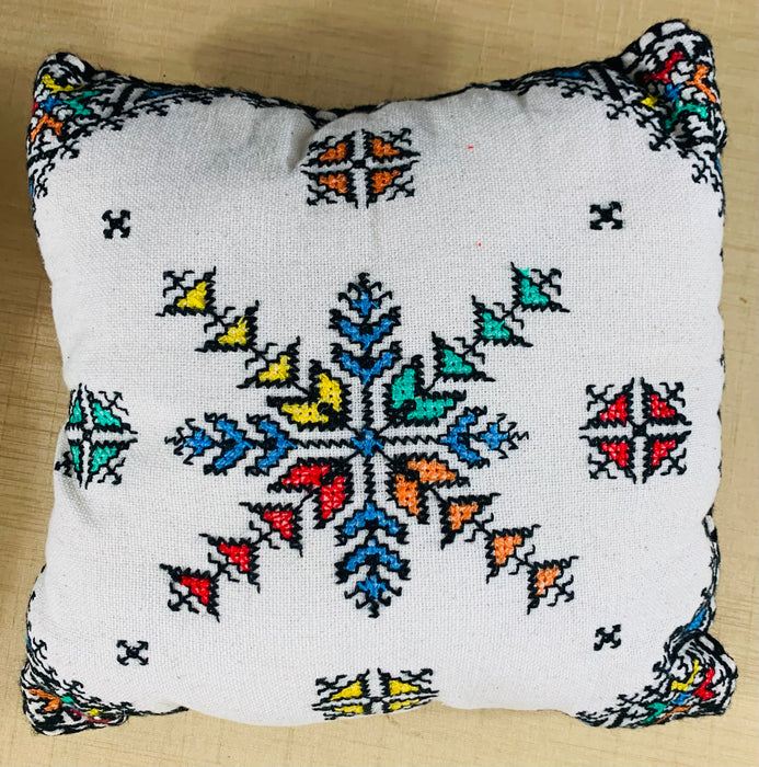 Hand Embroidered Boho Chic Small Compatible Pillows, Set of Four