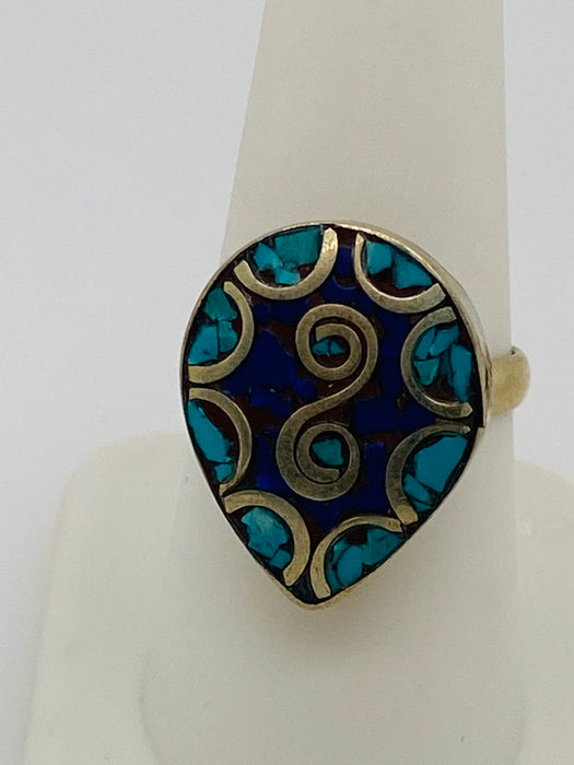 Vintage Silver Sterling Tribal Moroccan Ring