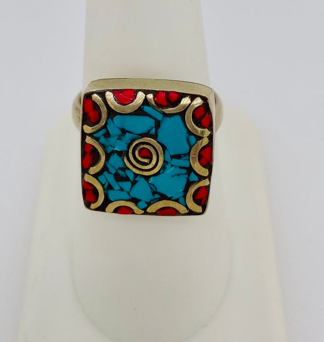 1950's Sterling Silver Vintage Tribal Moroccan Ring