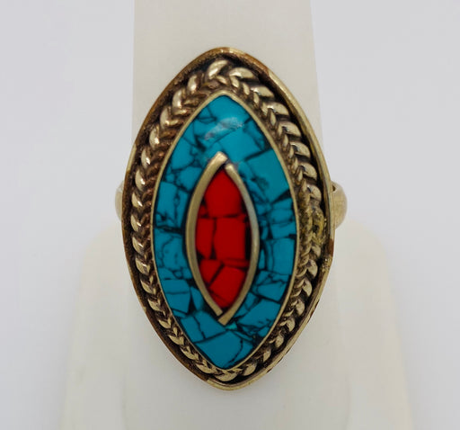 Vintage Tribal Moroccan Turquoise Ring 1950's