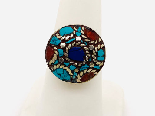Vintage Tribal Moroccan Silver Ring 1950's
