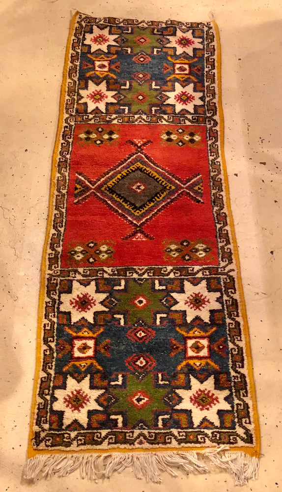 Berber Tribal Moroccan Multicolor Wool Rug