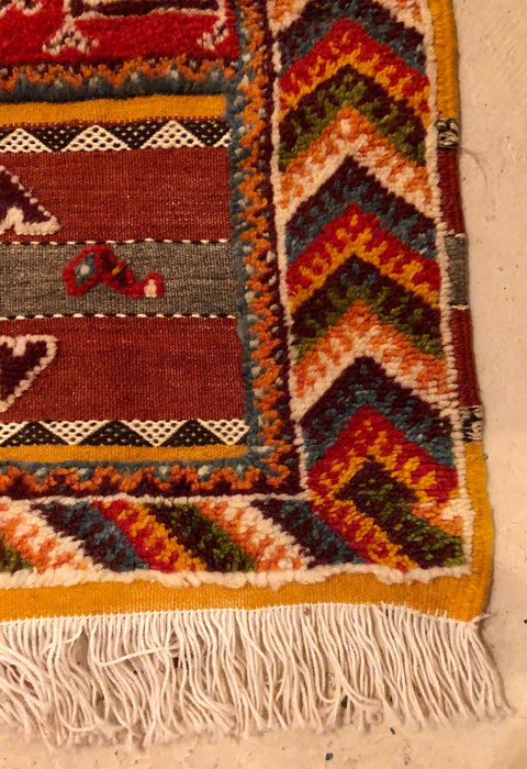 Berber Moroccan Rug - Medium Tribal Handwoven Wool