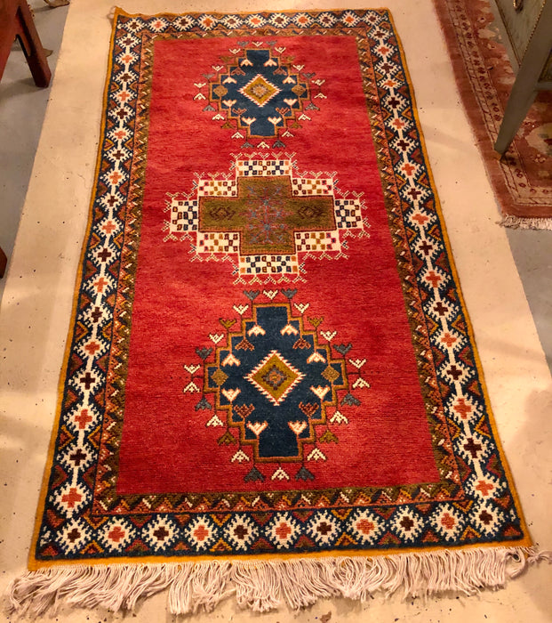 Berber Rug - Medium with Intricate Designs Organic Dye