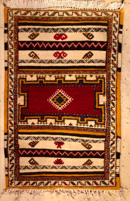 Berber Rug- Handwoven Magnificent Regal Pattern in Wool