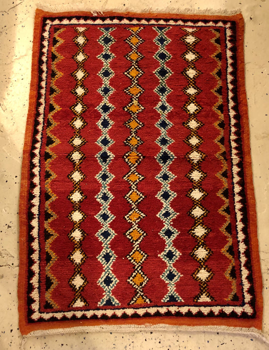 Pair of Berber Rugs - Small with Handwoven Wool