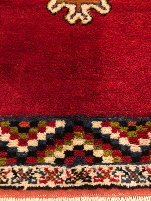 Berber Rug - Small Handwoven Wool with Organic Dyes