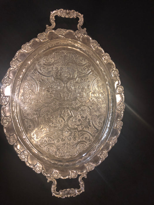 Silver Platted Twin Handled Serving Platter