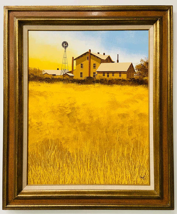 Farm Landscape Oil on Canvas Painting
