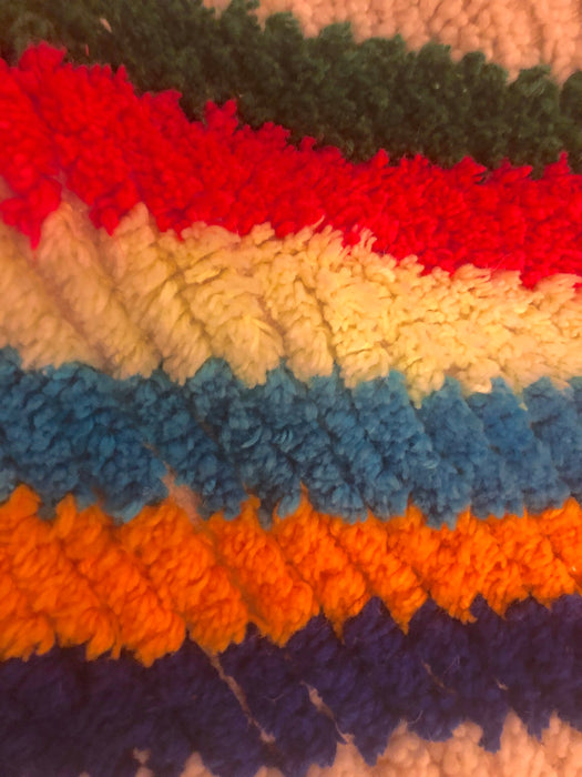 Handwoven Azilal Rainbow Multi-Color Rug