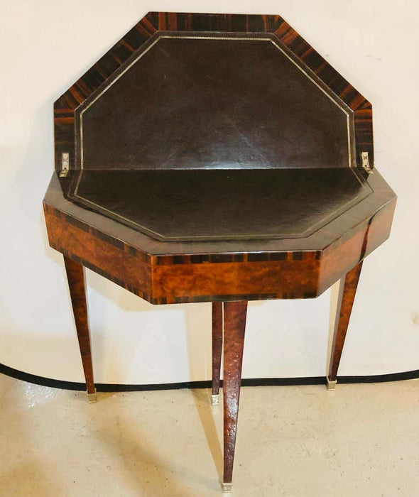 1930s Art Deco Macassar Card Serving Table
