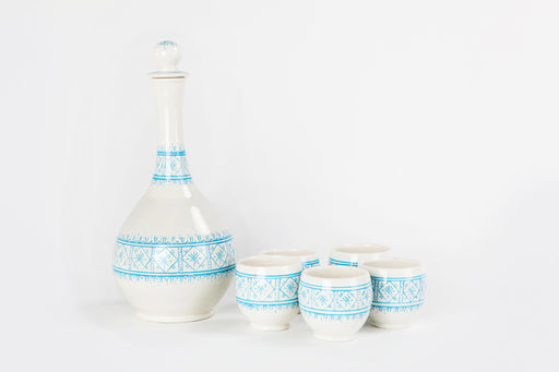 Azure Blue Carafe Set