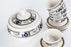 SOUP SET WITH SOUPIER 6 MATCHING SMALL PLATES /BOWLS