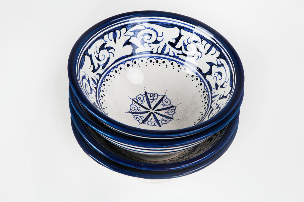 Small Bowls - Blue Thin Flower