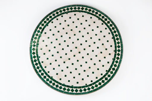 Fez Garden Green and While Mosaic Tile Table