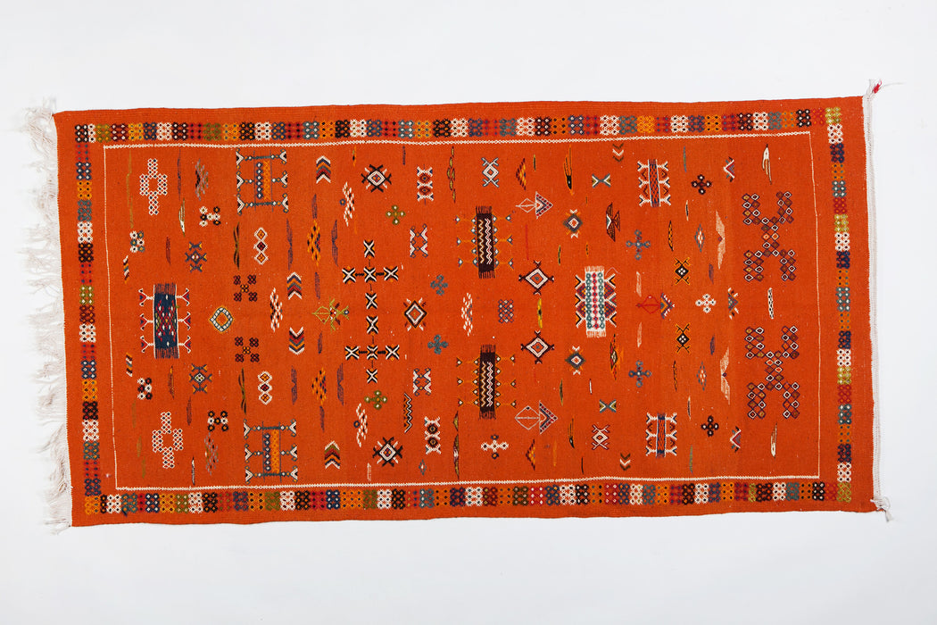 Moroccan Tribal Handwoven Multi-color Wool Rug