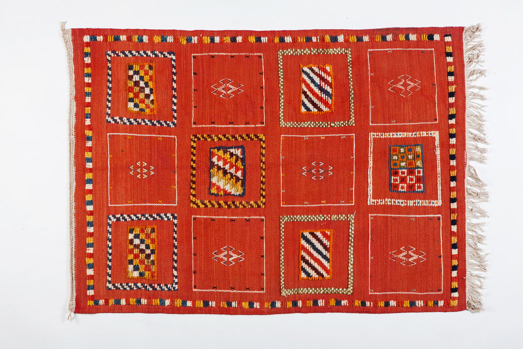Berber Tribal Medium Rug - Handwoven Wool with Organic Dye