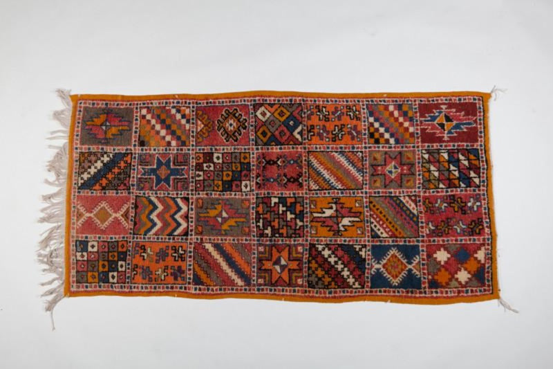 Berber Rug - Medium Handwoven Wool Patchwork Abstract Pattern