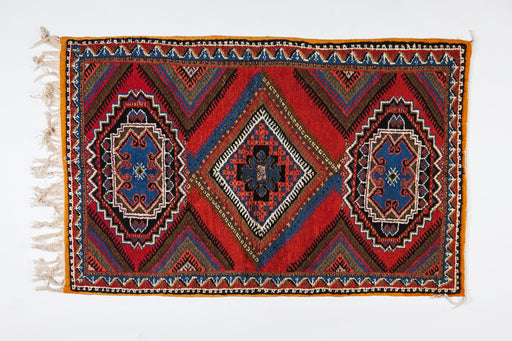 Berber Rug - Medium Handwoven from Wool and Hypnotic Pattern
