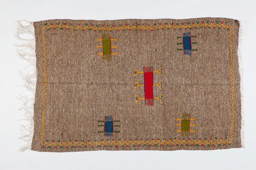 Medium Berber Rug - Handwoven Minimal Abstract Pattern