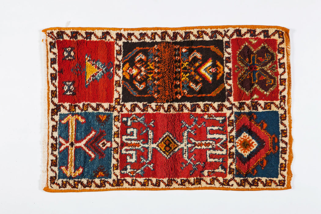 Berber Rug- Six Panel Abstract Designs