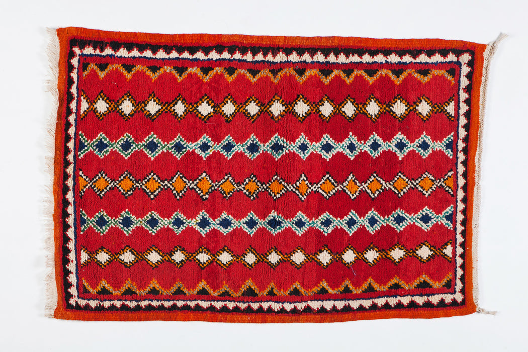 Berber Rug- Small with Handwoven Wool