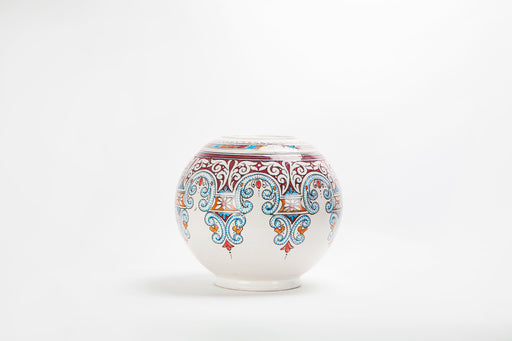 Vintage Hand-painted Ceramic Moroccan Vase or Urn
