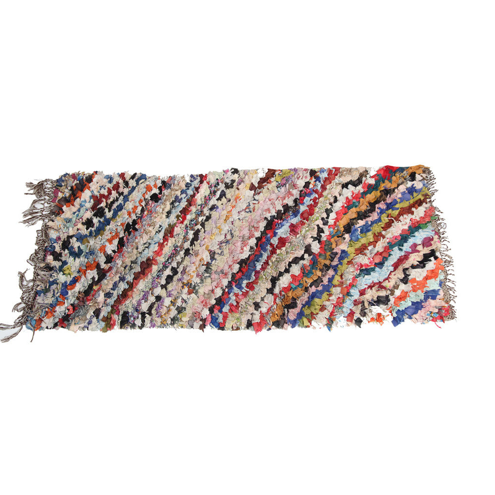 Boho Chic Boucharouite  fabric Runner Rug