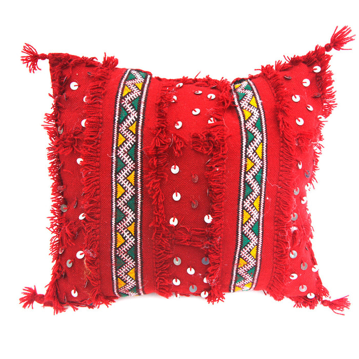 Moroccan Wedding Pillow (Red)