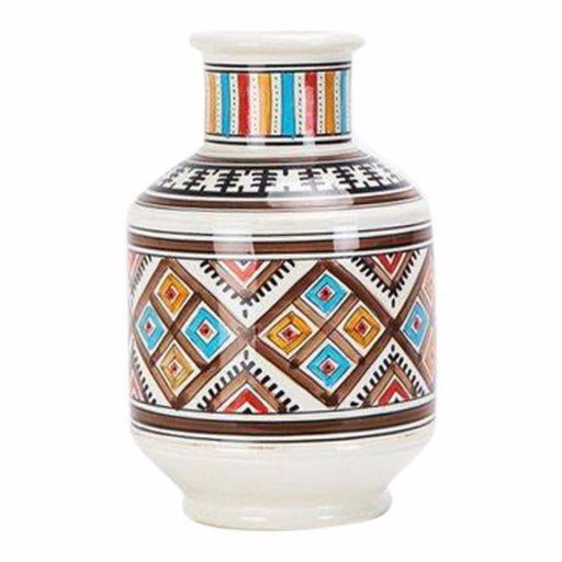 Hand Painted Tribal Ceramic Vase
