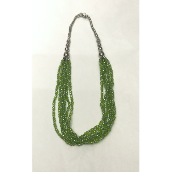 Chic Green Stones Necklace