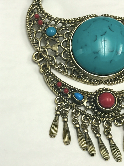 Turquoise Stone Moroccan Necklace