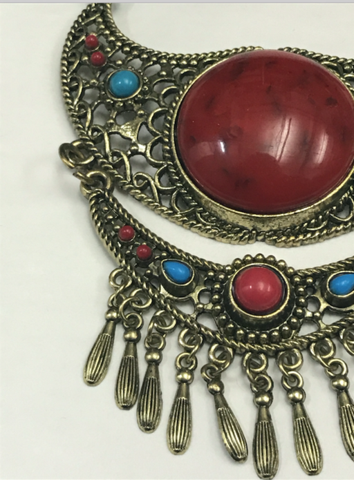 Red Stone Moroccan Necklace