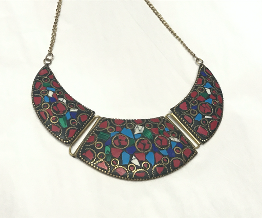 Multicolor stones eclectic Necklace