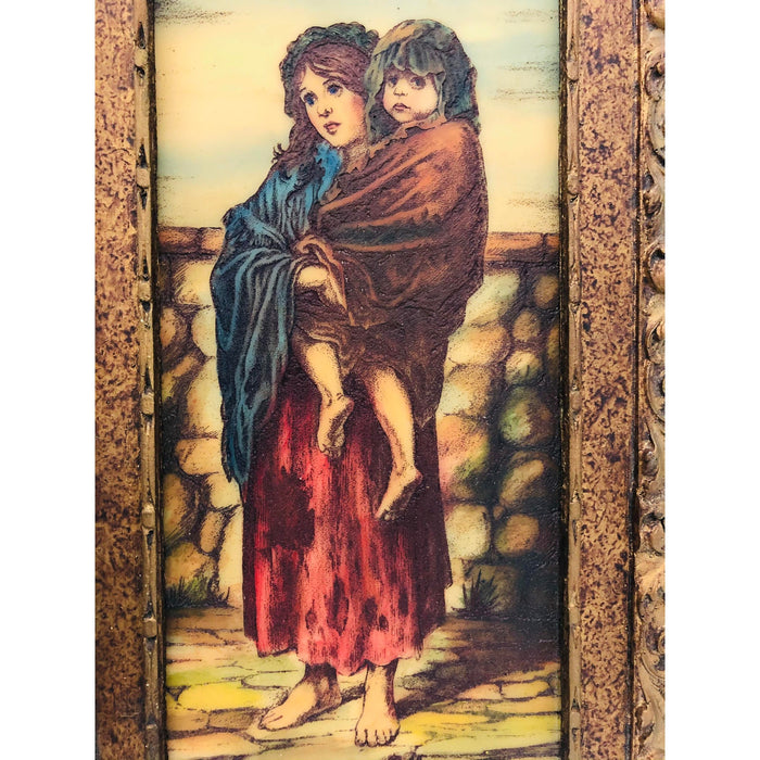 Artini Engraving of Mother and Child Signed Chapin