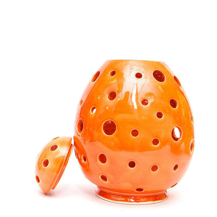 Orange Egg Form Table Lamp