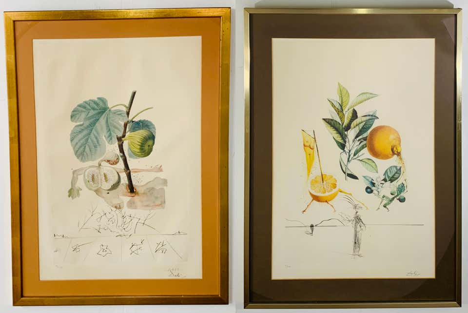 Salvador Dali Flordali Les Fruits Fig Man & Pamplemousse Erotique, Signed 1969