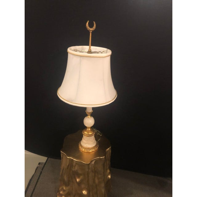 A French Gilt Bronze and Alabaster Table Lamp
