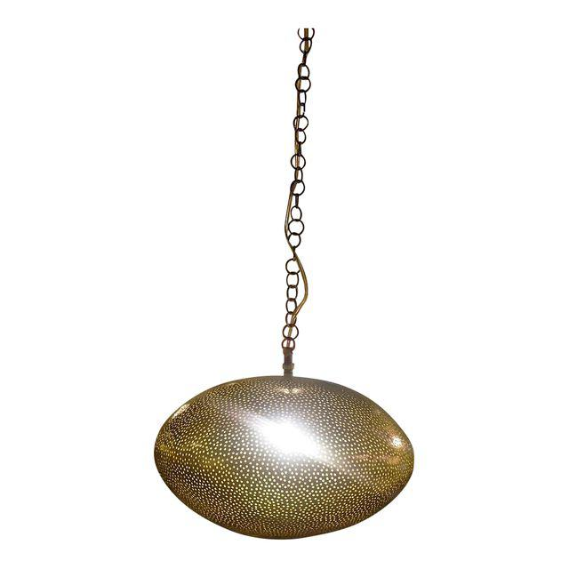 Large Moroccan Brass Pendant Lighting