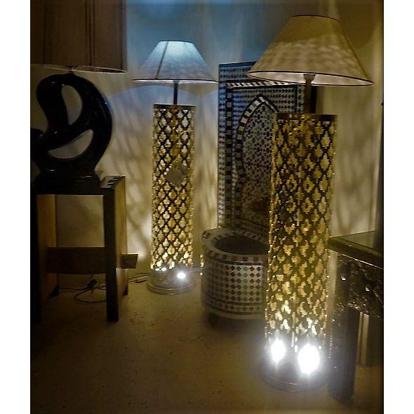 Moroccan Brass Floor Lamps - a Pair