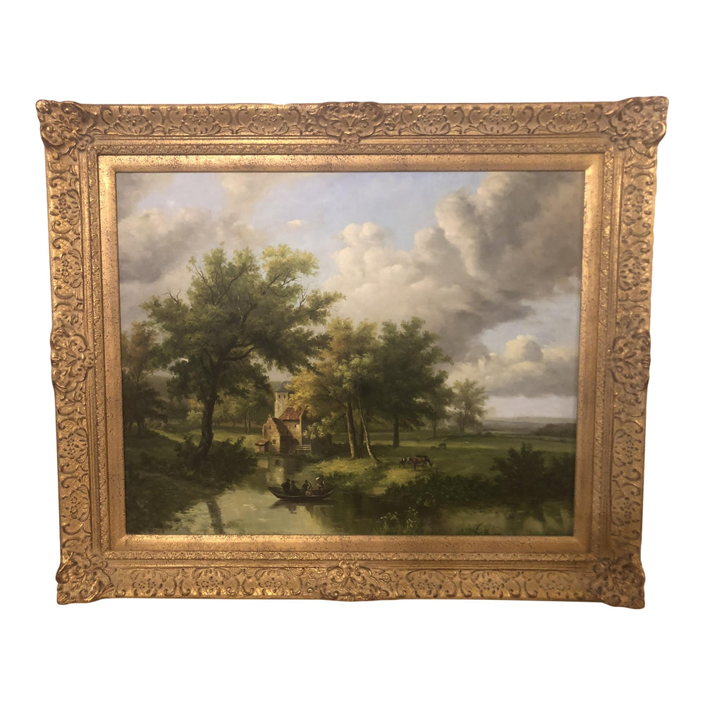 Oil on Canvas Landscape Painting - Signed by Artist