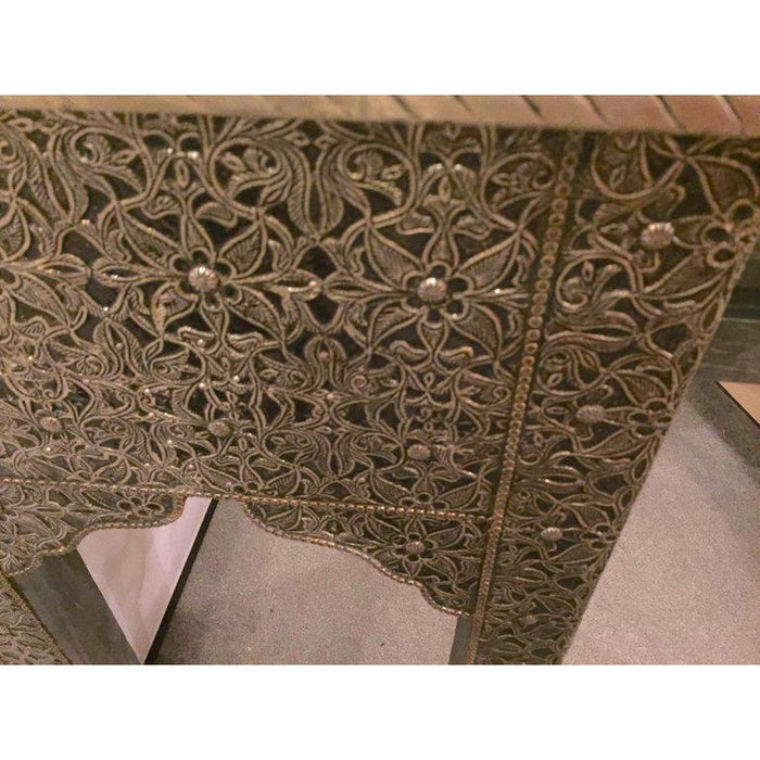 Metal over Wood Royal Wall Console