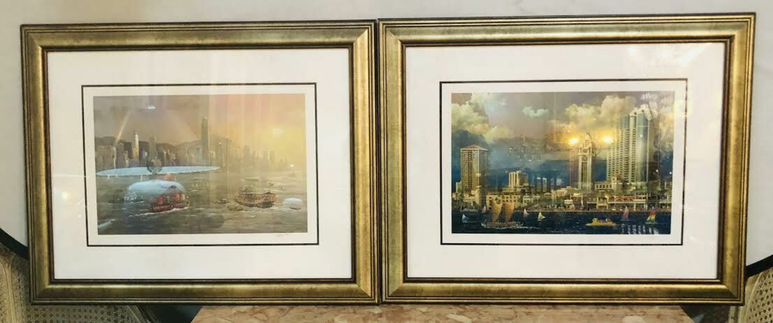 Alexander Chen Stereolithograph Signed and Numbered Framed Print, a Pair