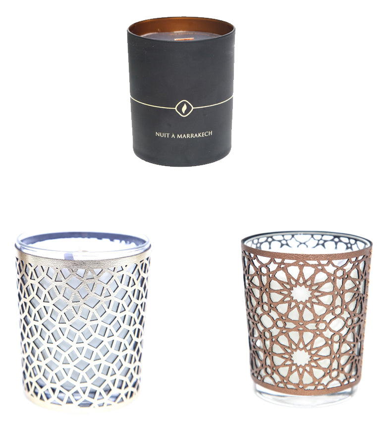 Arabesque Scented Candles, Set of Three