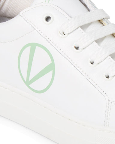 SS20 - Sneakers - Petra - White + Green - SS20 - Sneakers - Petra - White + Green