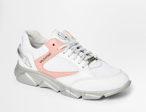 SS20 - Sneakers - Theo - White + Pink - SS20 - Sneakers - Theo - White + Pink