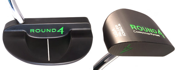 Round 4 Slider 1018 carbon steel putter in Custom Green Paint