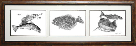 Pencil Trio - Sea Trout Flounder Redfish